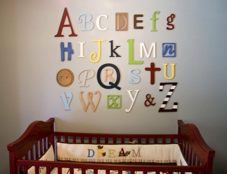 letras decorativas pared rosa abecedario