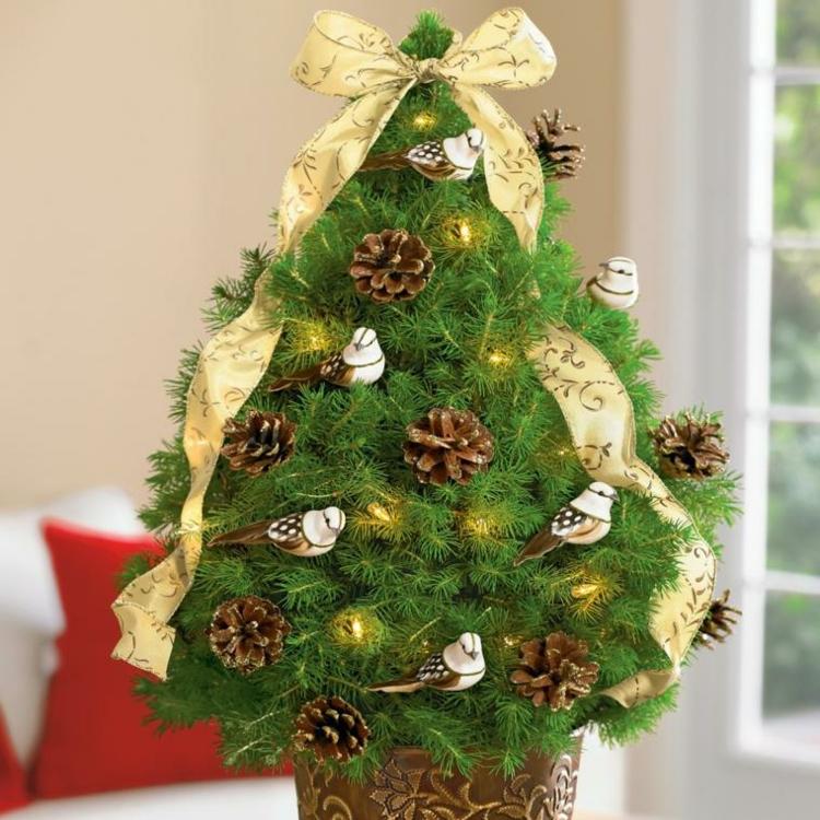 navidad creatividad plantas conos cojines cintas