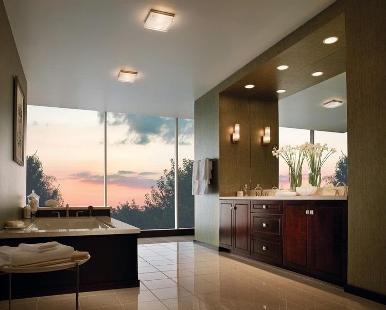lmparas de baño cuadradas techo