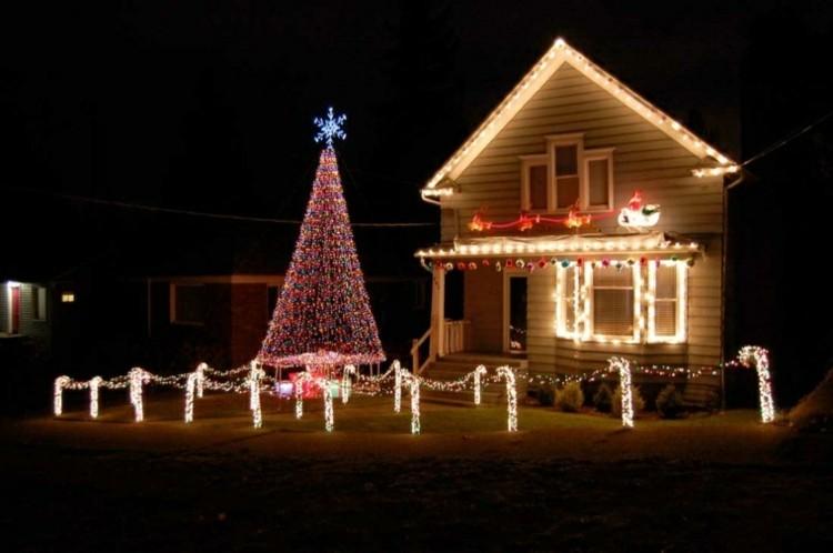 luces de navidad ideas jardines estrellas estilos