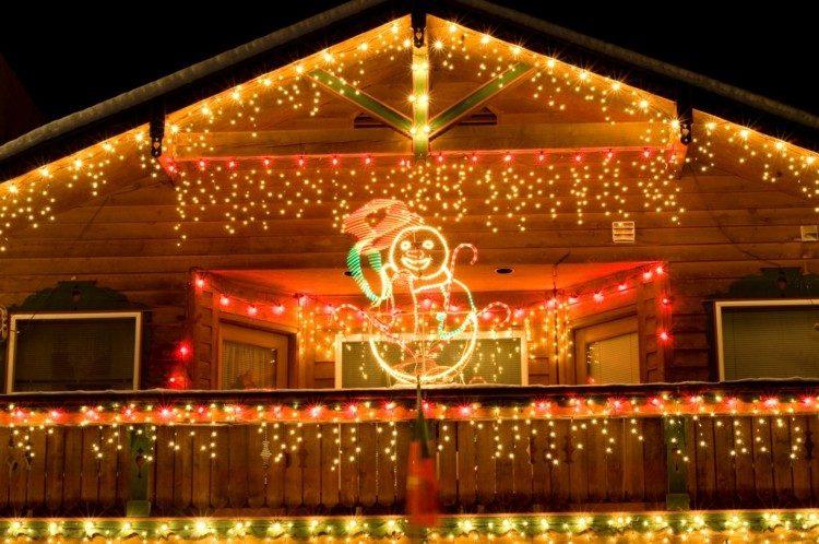 luces de navidad ideas calido muñeco