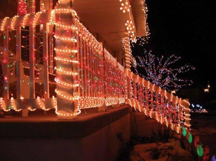 luces de navidad ideas jardines porche terraza