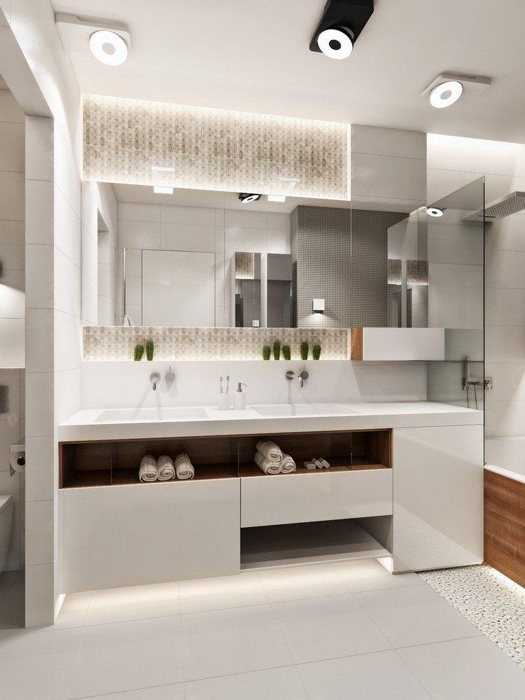 luces de techo baño moderno