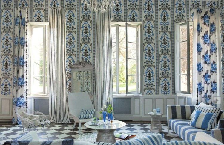 madera detalles estilo luces cortinas laparas
