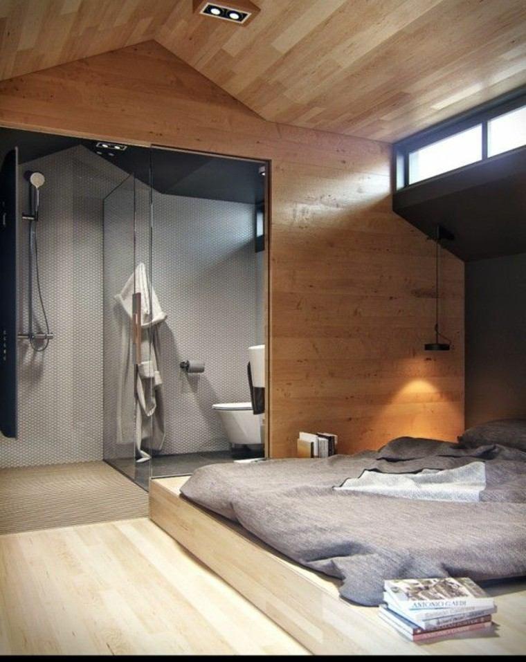 madera estilo casa cabaña led