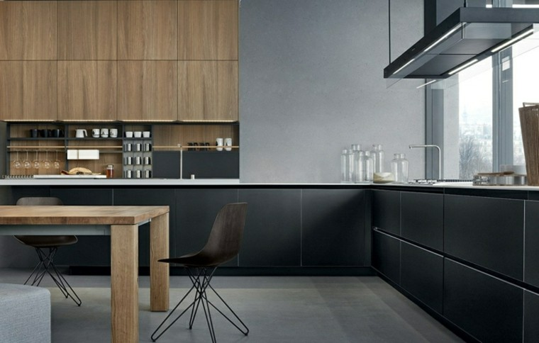 madera negro ideas respaldo taburetes silla