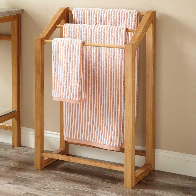 madera real suelo rayas toallas
