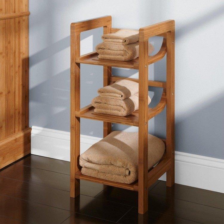 madera real suelo toallas azul
