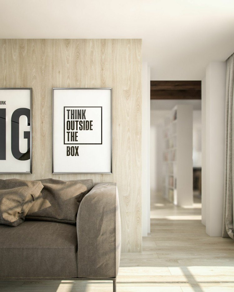 Creatividad y contraste de colores 50 ideas elegantes - Casa letras madera ...