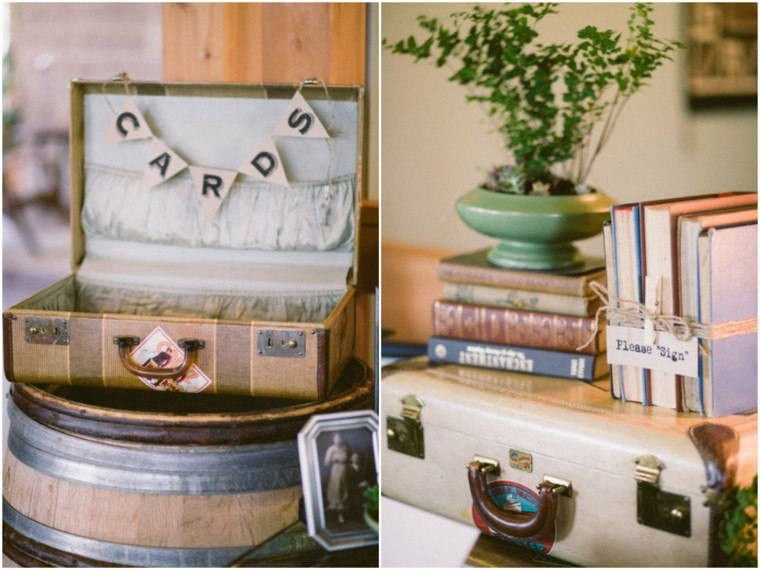 maletas viejas decoracion estilo vintage