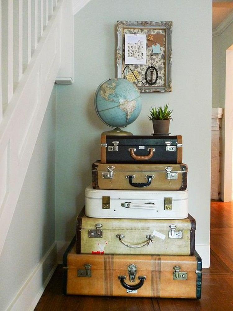 maletas vintage ideas decoracion madera cuadros
