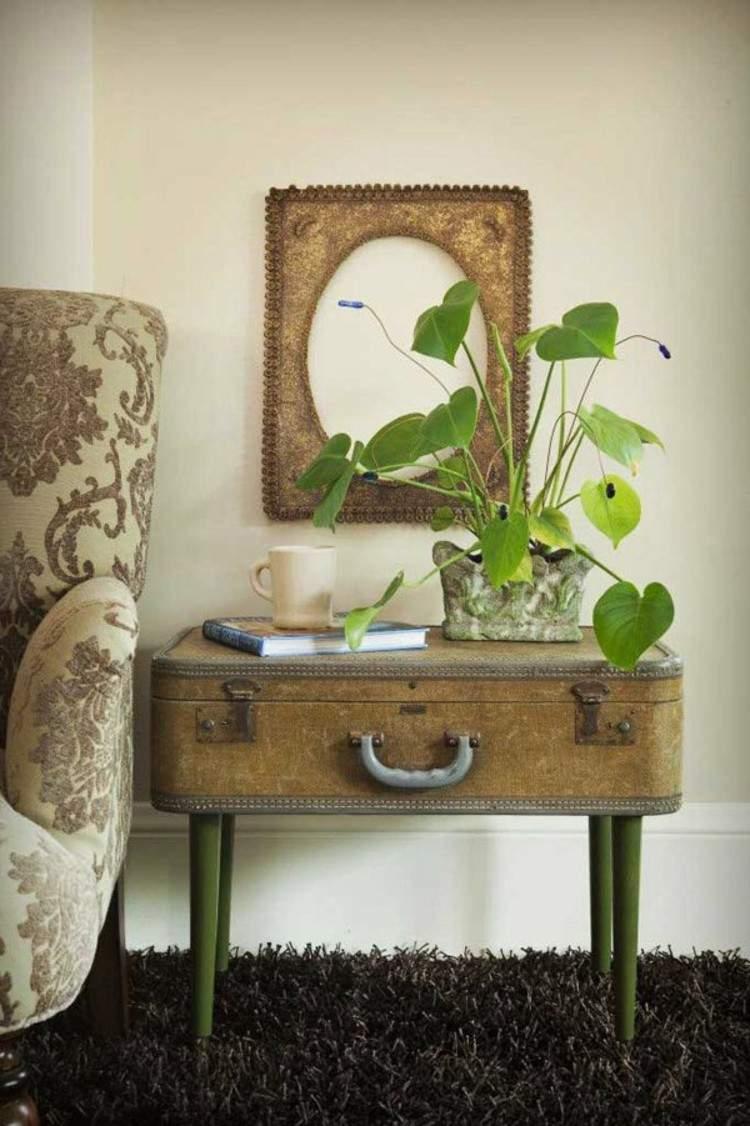 maletas vintage ideas decoracion plantas alfombra