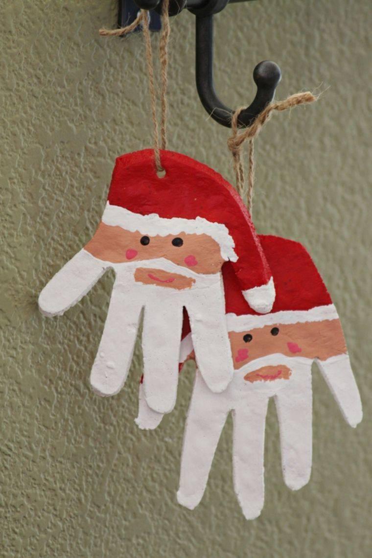 manos pasta sal decoracion navidena personalizada ideas