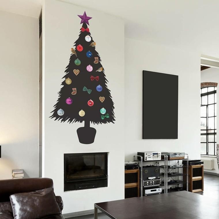 manualidades de navidad decoracion arbol negro ideas