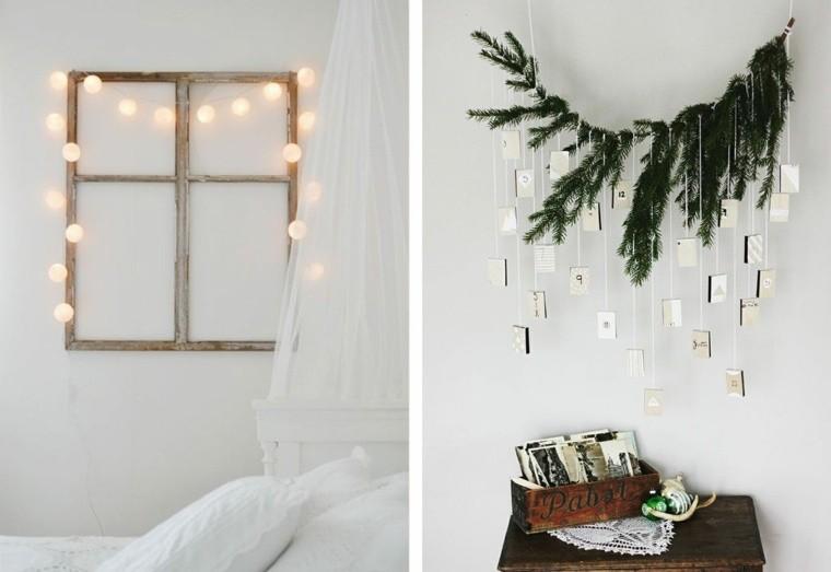 manualidades de navidad decoracion calendario luces ideas