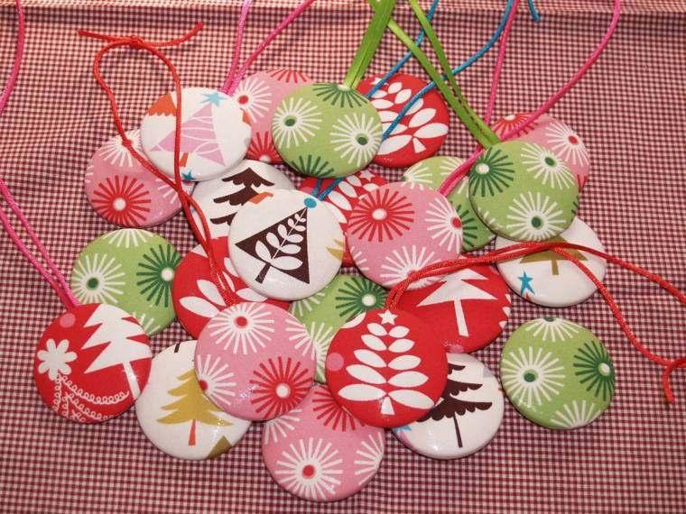 manualidades navidad decoracion chapas decorativas ideas