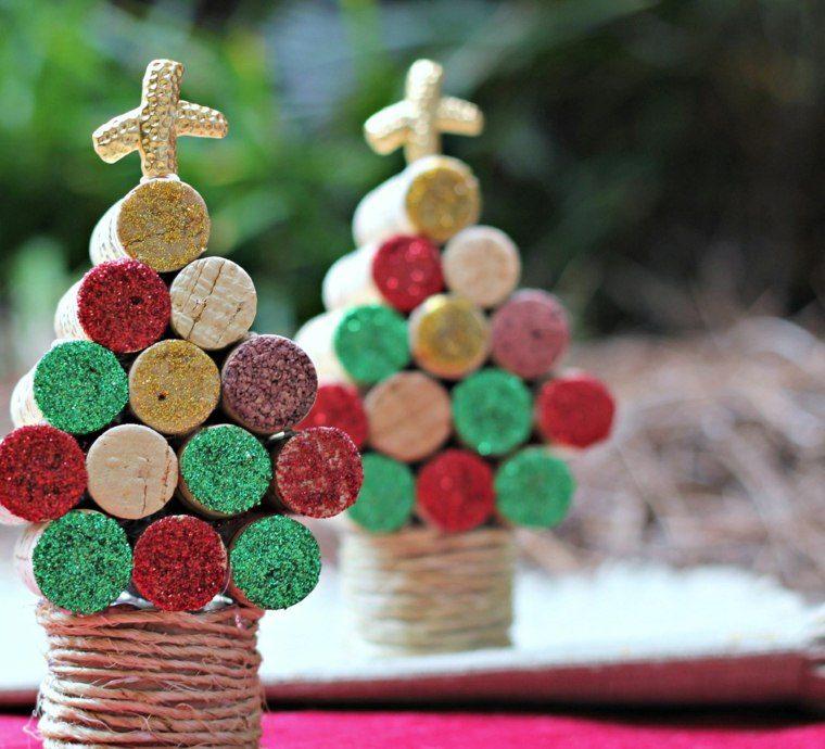 manualidades navidad decoracion corcho colores ideas