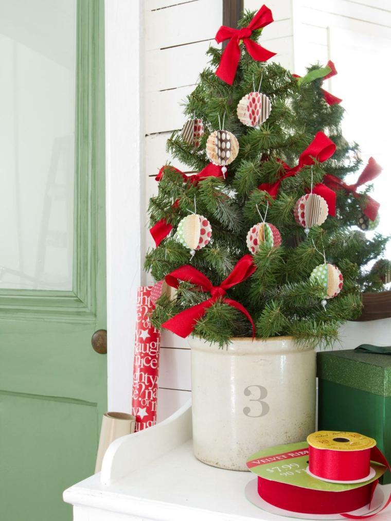de navidad decoracion lazos rojos ideas