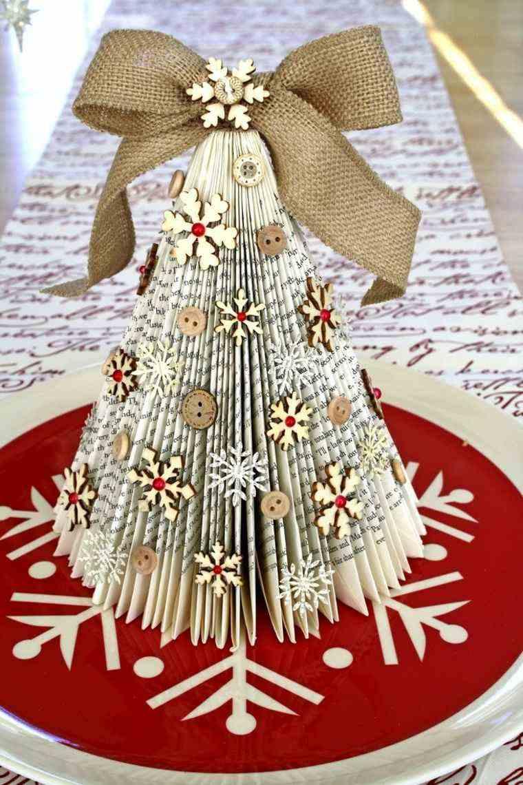 de navidad decoracion libro botones ideas