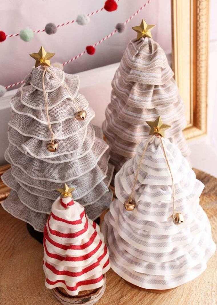 manualidades de navidad decoracion telas colores ideas