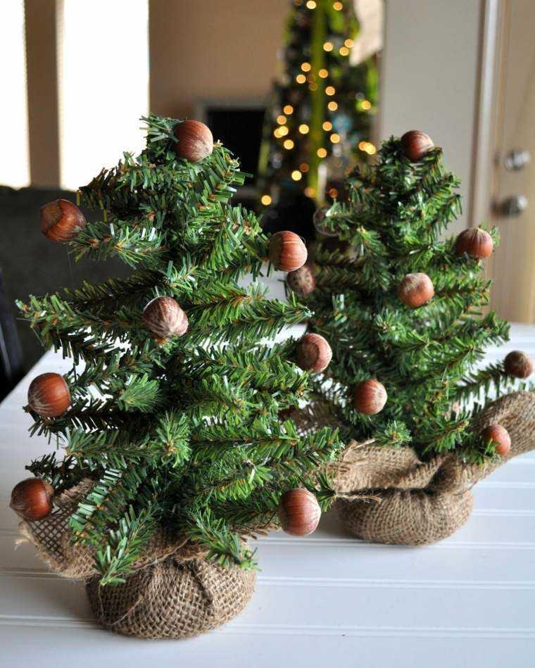 manualidades navidad decoracion avellanas abeto ideas