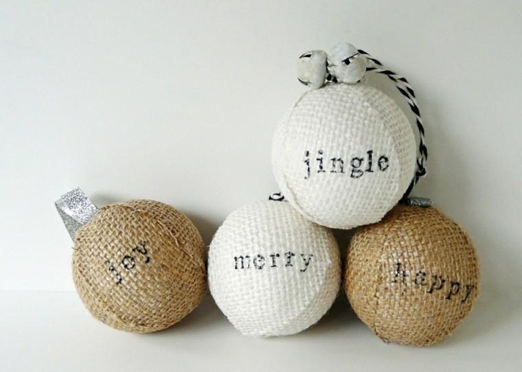 manualidades navidad decoracion bolas blancas ideas