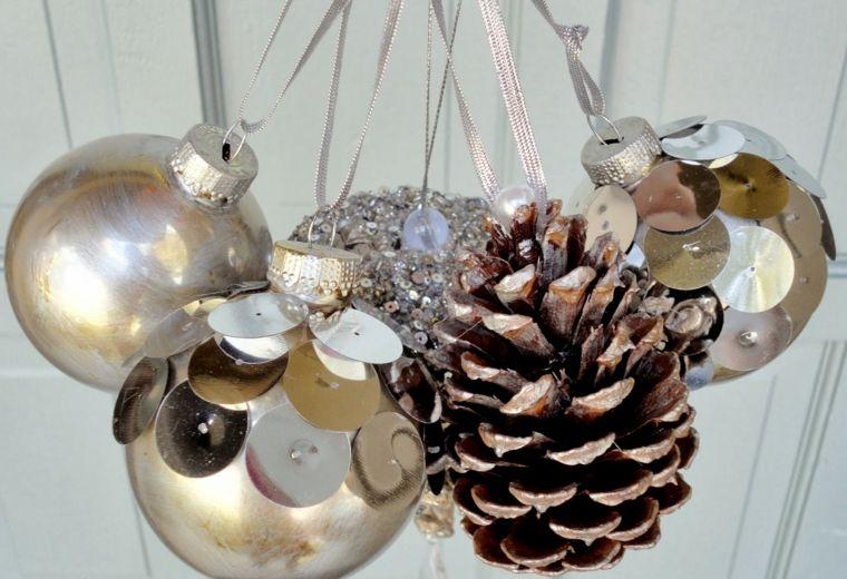 manualidades navidad decoracion bolas pina ideas
