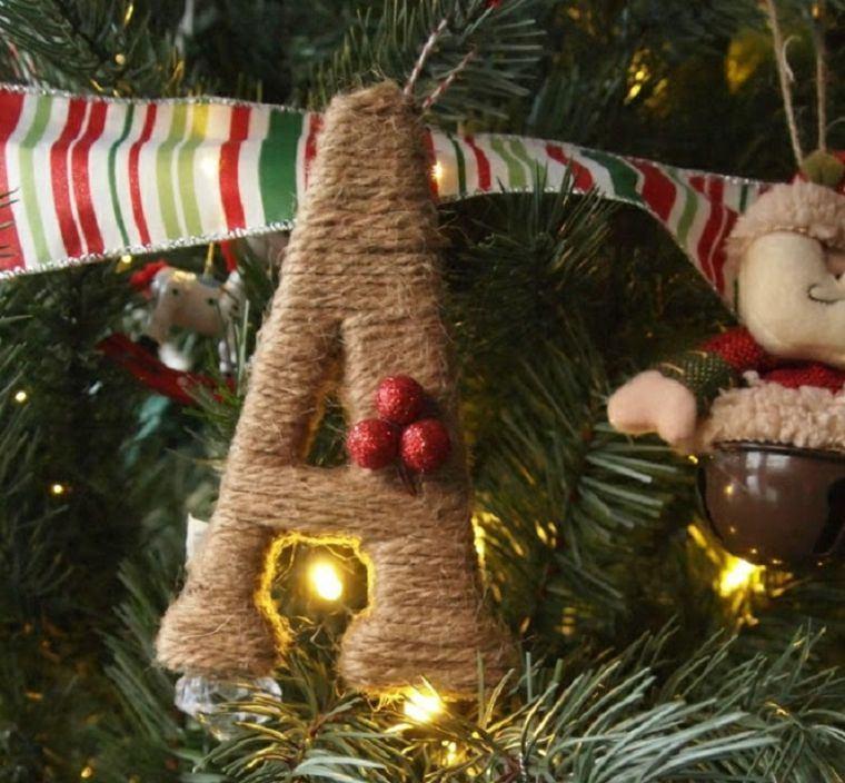 navidad decoracion cuerda arbol ideas