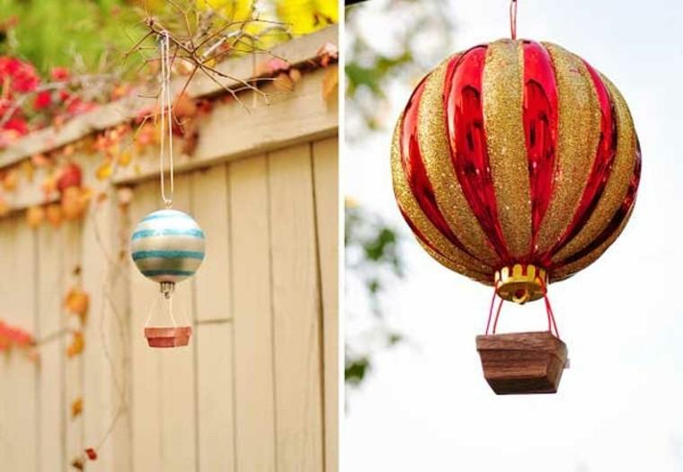 manualidades navidad decoracion globo navideno ideas