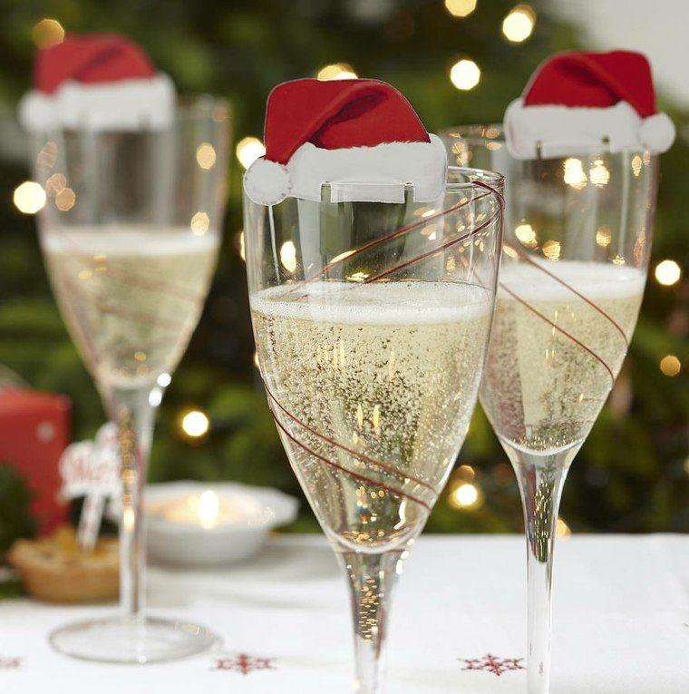 manualidades navidad decoracion gorras vasos ideas