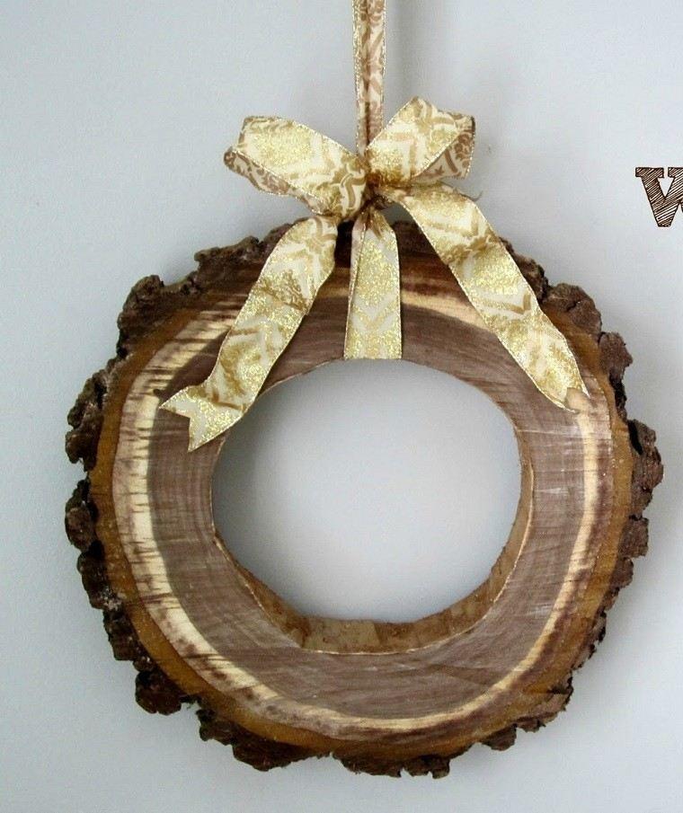 manualidades navidad decoracion gurnalda madera ideas