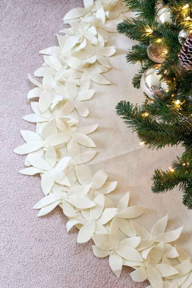 manualidades navidad decoracion mantel flores ideas