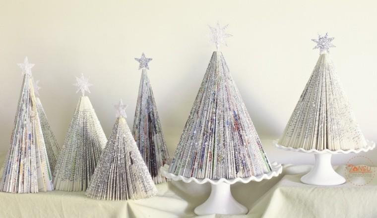 manualidades navidad decoracion papel brillantina ideas