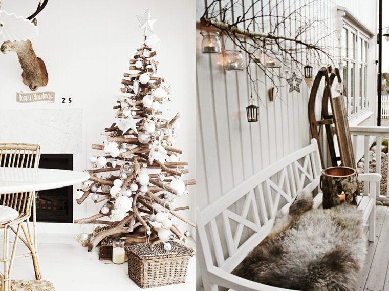 manualidades navidad decoracion rama arboles ideas