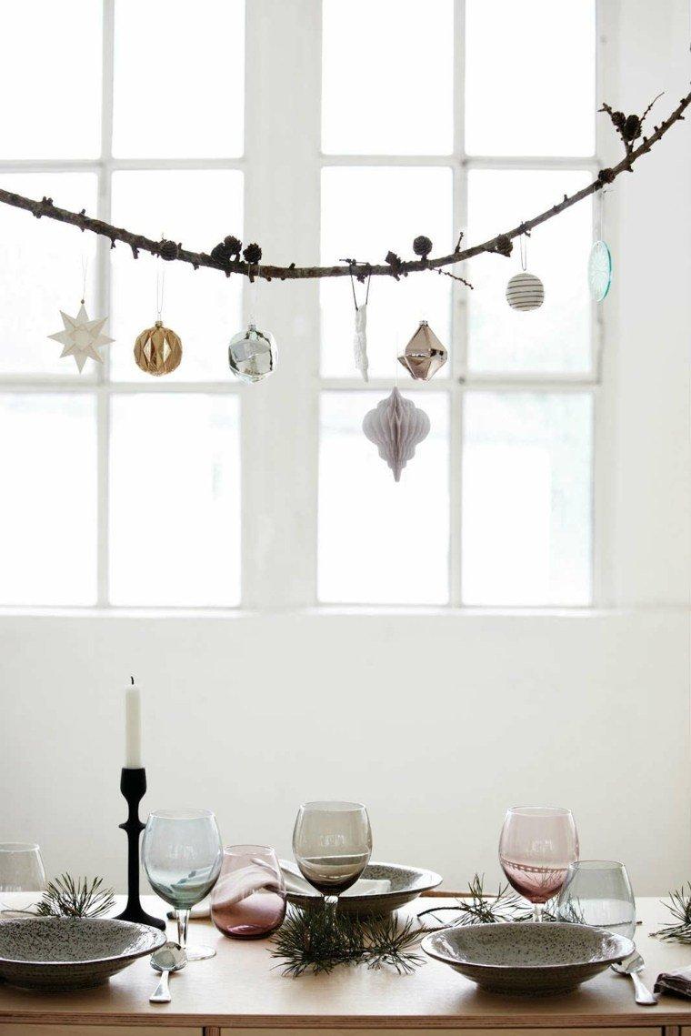 manualidades navidad decoracion rama guirnalda ideas
