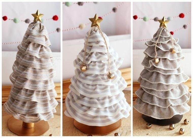 navidad decoracion tela estrella ideas
