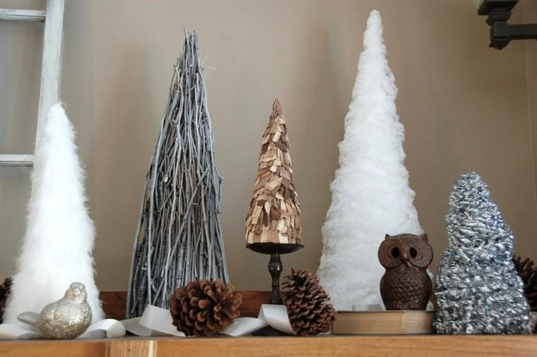 manualidades navidad decoracion varios arboles ideas