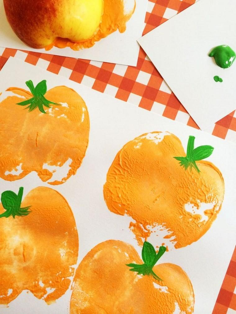 manualidades niños artesania calabazas pintadas ideas