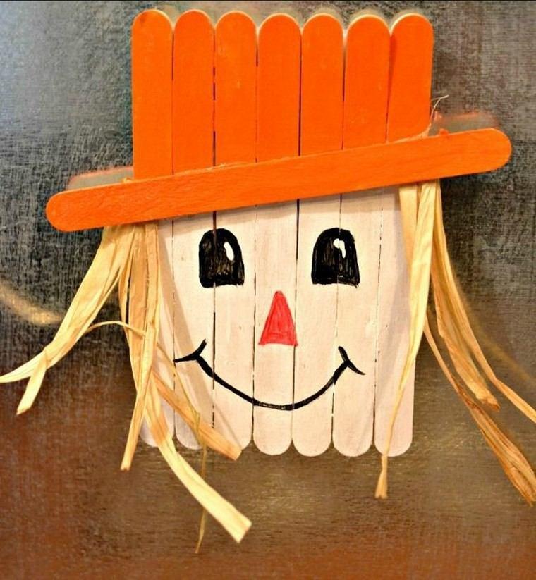 manualidades niños artesania espantapajaros ideas