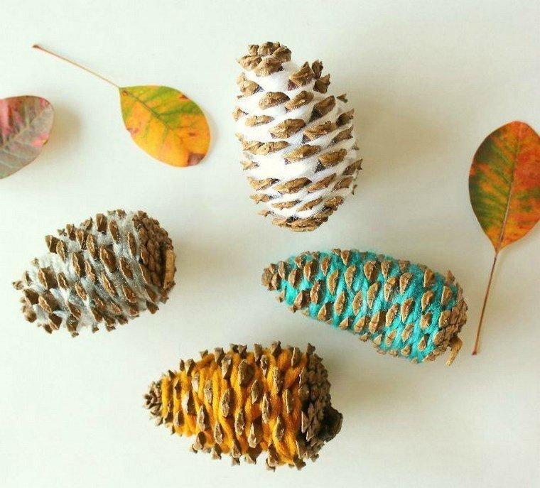 manualidades niños artesania pinas lana ideas