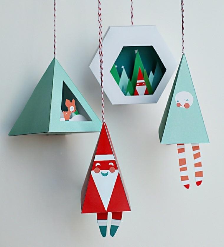Manualidades para navidad adornos caseros sencillos - Adornos de navidad con cartulina ...