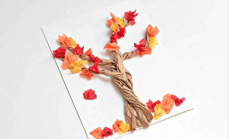 manualidades para niños artesania arbol ideas