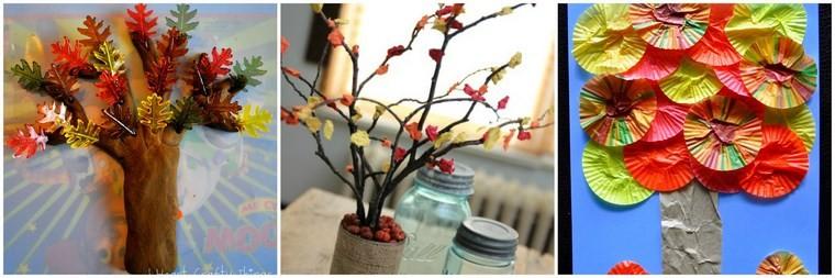 manualidades para niños artesania arboles bricolaje ideas