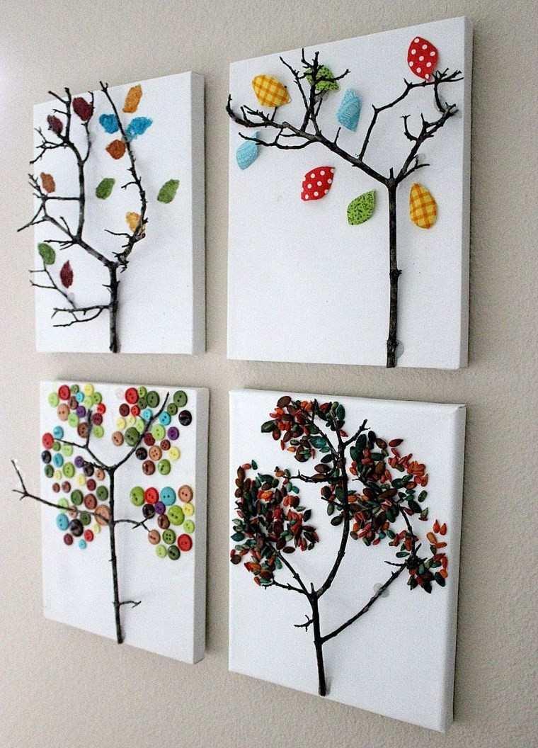 manualidades niños artesania arboles preciosos ideas