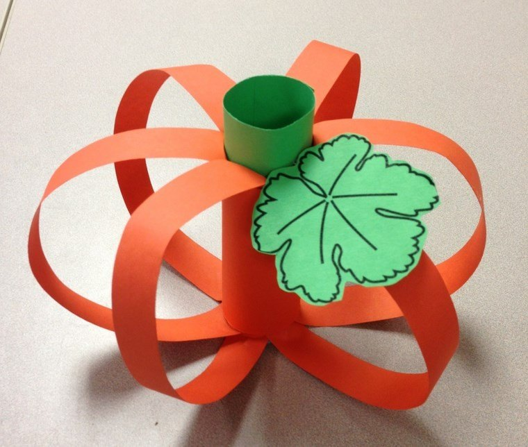 manualidades para niños artesania calabaza papel ideas