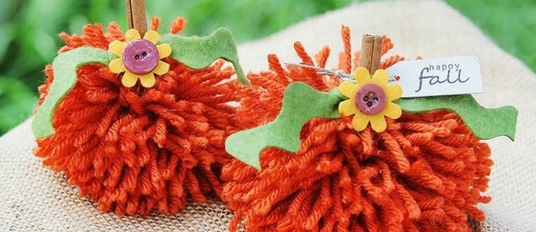 manualidades niños artesania calabazas lana ideas