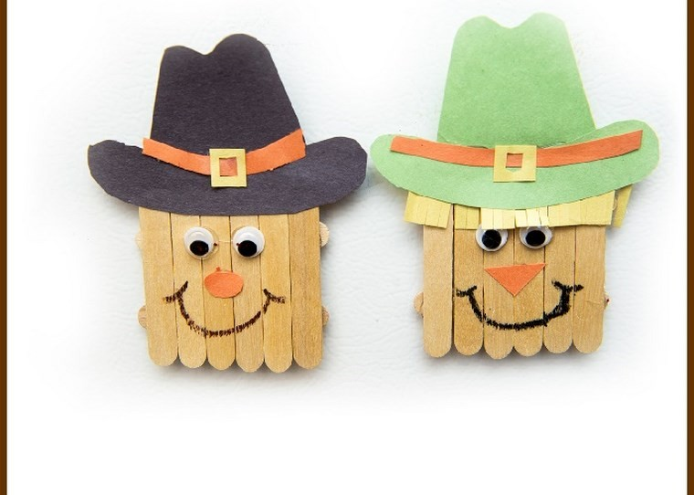manualidades para niños artesania munecos madera ideas
