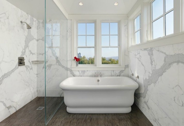 marmol sala baño cristales ventanas
