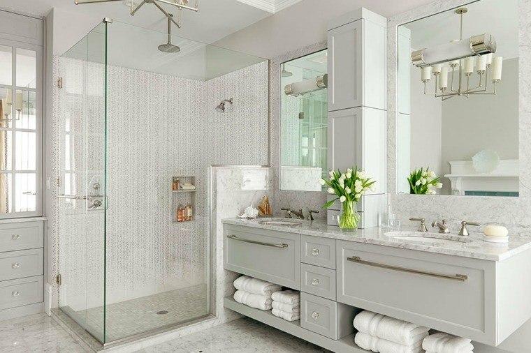 marmol sala baño flores suelos toalla