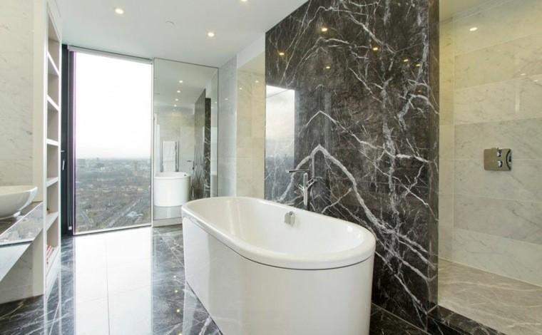 marmol baño luminosos negro blanco